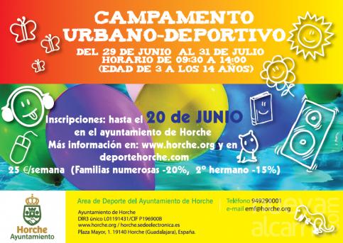 El Ayuntamiento de Horche abre los plazos de inscripción para sus actividades de verano