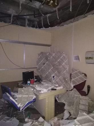 Se hunde el techo de la consulta de rehabilitación del hospital de Toledo :