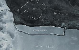 ALARMA EN LA ANTÁRTIDA : El mayor iceberg del mundo se ha desprendido de la plataforma de hielo Roone