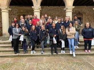 El Ayuntamiento de Sigüenza recibió a un grupo de estudiantes ingleses