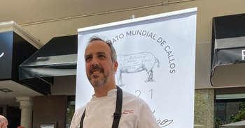 Jorge Losa, jefe de cocina de Zalacaín, elabora los mejores callos de España