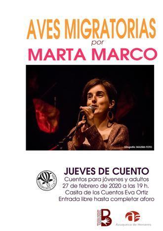 Nueva sesión de 'Jueves de Cuento' en Azuqueca con la narradora Marta Marco y 'Aves migratorias'