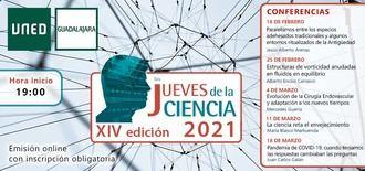 """XIV Ciclo de Conferencias """"Los jueves de la Ciencia"""" de la UNED en Guadalajara"""