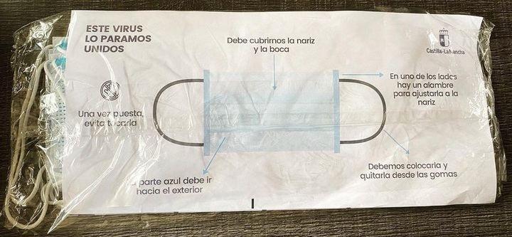 Comienzan a llegar a los hogares de la provincia de Guadalajara las mascarillas de protección enviadas por el Gobierno regional