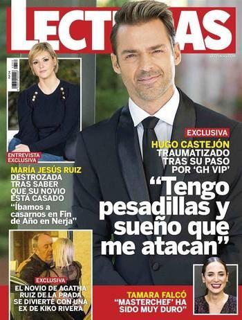 """LECTURAS Hugo Castejón ('GH VIP 7'): """"Sufro pesadillas, sueño que recibo ataques"""""""