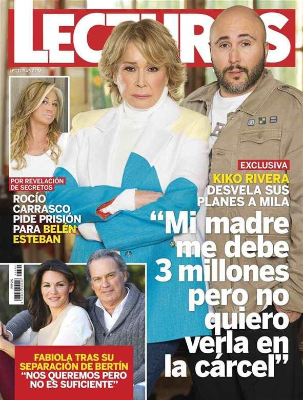 """LECTURAS Exclusiva Kiko Rivera : """"Mi madre me debe 3 millones pero no quiero verla en la cárcel"""""""
