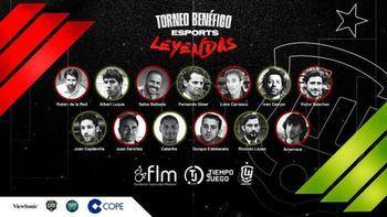 Las leyendas de la Selección Española de Fútbol organizan un torneo de e-Sports a beneficio de personas con lesión medular