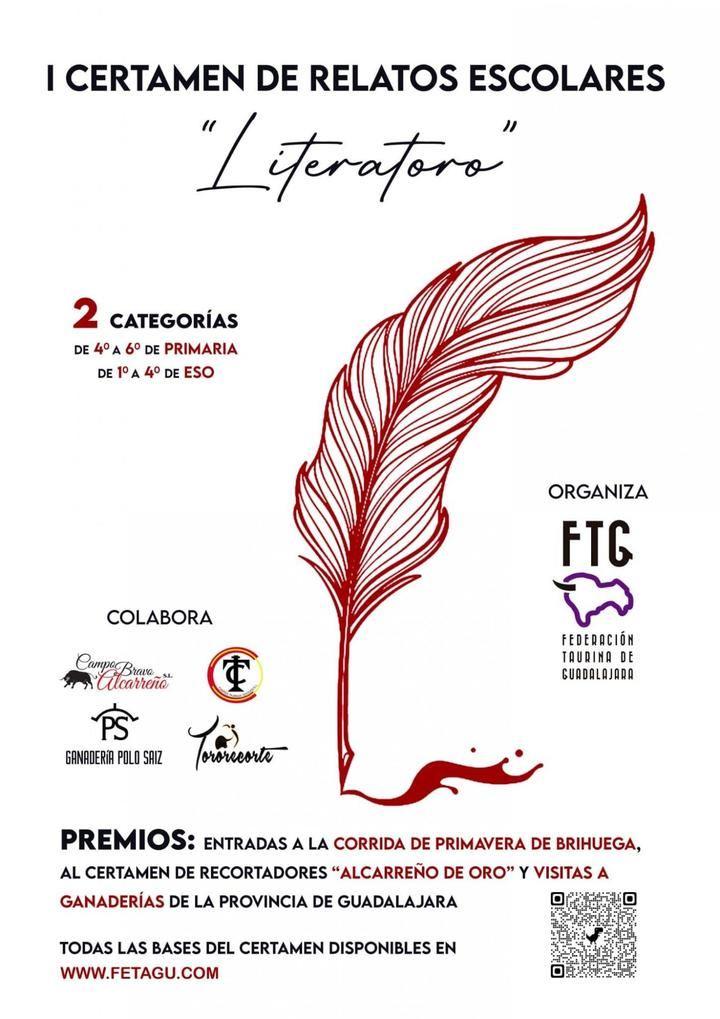 """La Ferderación Taurina de Guadalajara organiza el I Certamen de Relatos Escolares """"LITERATORO"""""""