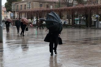 La borrasca Gaetan deja este jueves en Guadalajara lluvias generalizadas, 6ºC de mínima y 9ºC de máxima y RACHAS DE VIENTO de 21 km/h