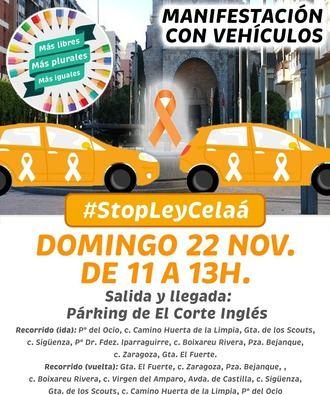 Convocan una Manifestación con Coches en Guadalajara contra la Ley Celaá este domingo 22 de noviembre