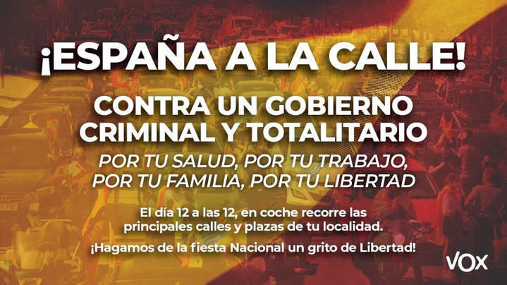 La justicia desautoriza a Sánchez y habrá marcha de VOX el 12 de octubre en Guadalajara