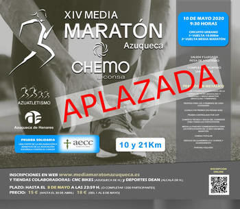 Aplazada la XIV Media Maratón Azuqueca Chemo-Liconsa