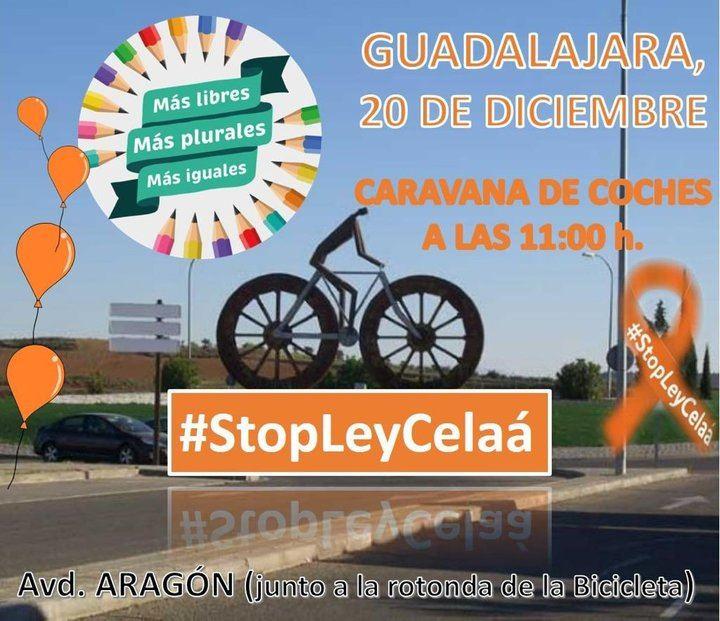 Convocadas Concentraciones este domingo en Guadalajara y TODA España CONTRA la aprobación de la 'Ley Celaá'