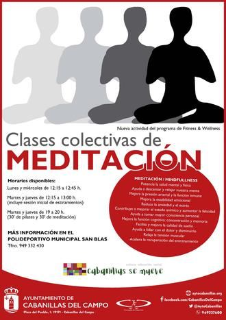 La Concejalía de Deportes lanza una nueva oferta de clases colectivas de Meditación en Cabanillas