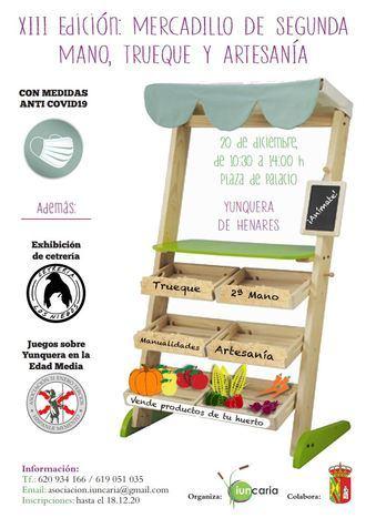 El Mercadillo de Segunda Mano, Trueque y Artesanía de Yunquera de Henares celebra este domingo su XIII edición