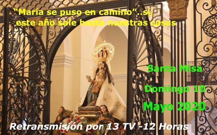 Domingo 10 de mayo : Misa televisada desde la Virgen de la Salud de Barbatona