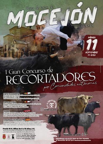 Mocejón celebrará el I Concurso de Recortadores por Comunidades Autónomas el sábado 11 de septiembre