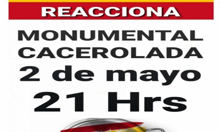 Sonora Cacerolada contra el Gobierno de Sánchez (PSOE y Podemos) en varias ciudades españolas por su gestión del coronavirus