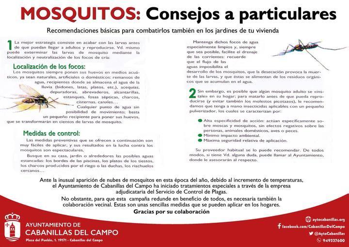 Comienza la aplicación de tratamientos extraordinarios antimosquitos en distintas zonas de Cabanillas