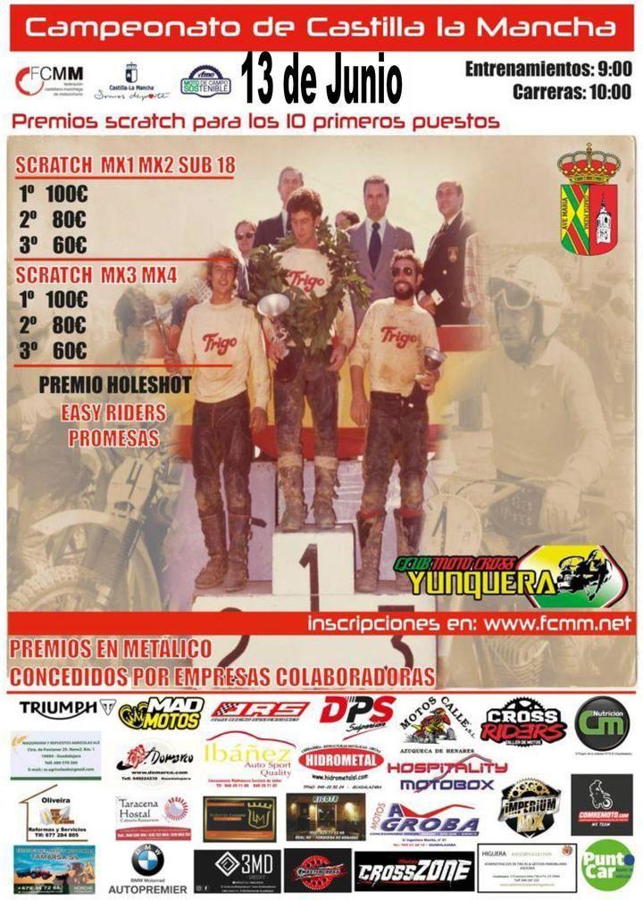 Yunquera de Henares acoge este domingo su prueba del Campeonato de Castilla-La Mancha de Motocross