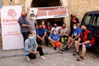 El MotoClub Alto Henares entrega casi 5.000 kilos de solidaridad seguntina a Cáritas