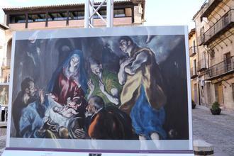 Gran y seguro éxito de la exposición 'El Museo del Prado en las calles' de Sigüenza
