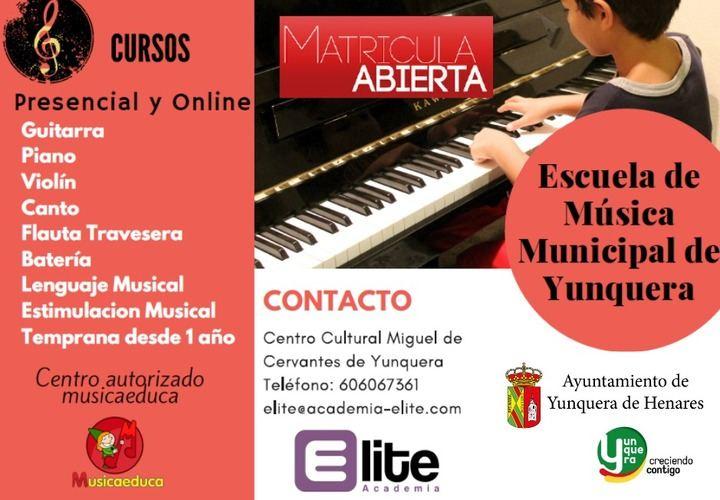 La Escuela de Música Municipal de Yunquera de Henares afronta su segundo curso