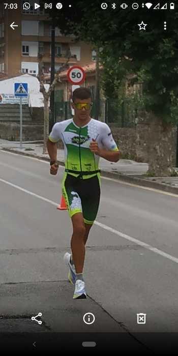 El triatleta alcarreño Nahuel Silio, cuarto en el valle de Agramón