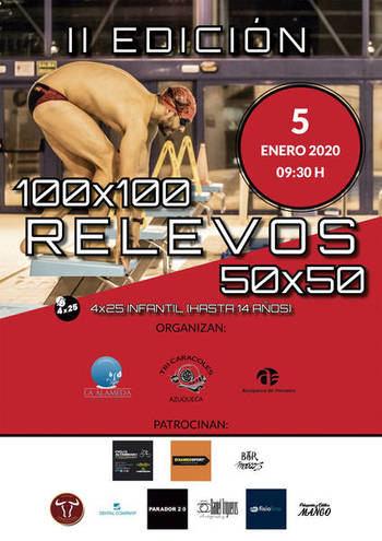 La segunda edición de la prueba de natación 'Relevos Azuqueca' incorpora una competición infantil e inclusiva