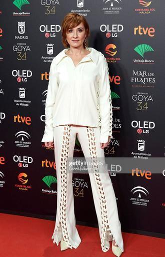 Nathalie Poza, con total look JCPAJARES SS20 en la cena de los nominados de los premios Goya 2020