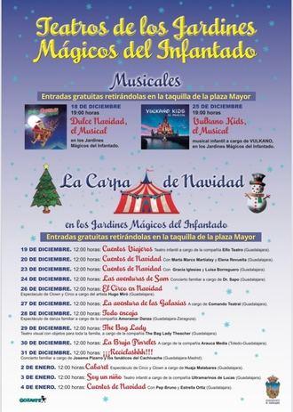 Una treintena de actividades seguras contra la covid19 dentro del programa navideño publicado en la web municipal del Ayuntamiento de Guadalajara