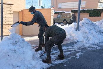 97 nuevos efectivos del Ejército de Tierra se incorporan a partir de este lunes a las tareas de limpieza en Molina de Aragón, El Casar, Chiloeches, Torrejón del Rey y Alovera