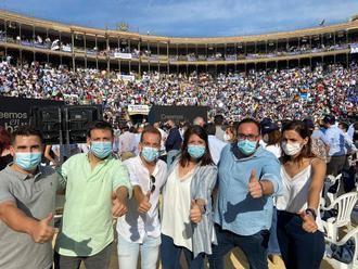 Los líderes de NNGG Castilla-La Mancha muestran su