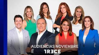 TRECE celebra su décimo aniversario con récord de audiencia en noviembre
