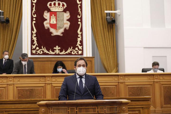 """Núñez exige a Page que se posicione de forma clara CONTRA los indultos y propone a los grupos parlamentarios una resolución """"con el único logo de Castilla-La Mancha"""""""