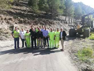 La Diputación de Guadalajara está mejorando ocho carreteras del Señorío de Molina con una inversión de 986.410 total de euros