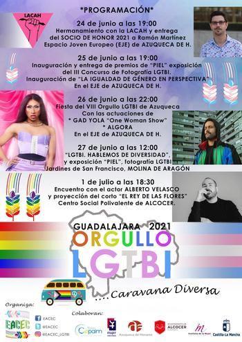 Programa de Orgullo LGTBI de la asociación EACEC en la provincia de Guadalajara