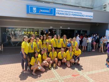 SincroCan, oro en cadete e infantil de sincronizada en el Campeonato de Verano