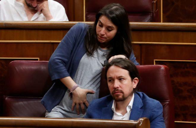 """Lidia Falcón acusa a Pablo Iglesias de haber creado """"un ministerio para que Irene se divierta con su pandilla"""""""