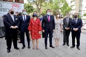 El presidente del PP-CLM, Paco Núñez, asiste al acto institucional con motivo del Día de Castilla-La Mancha, en Guadalajara