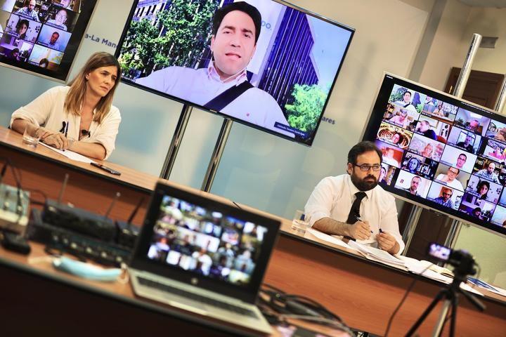 Paco Nuñez preside, junto al secretario genera del Partido Popular, Teodoro García Egea, el Comité Ejecutivo Regional del PP-CLM