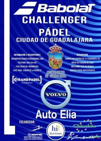 """El I Challenger de pádel """"Ciudad de Guadalajara-Volvo AutoElia"""" comienza el próximo 29 de febrero"""