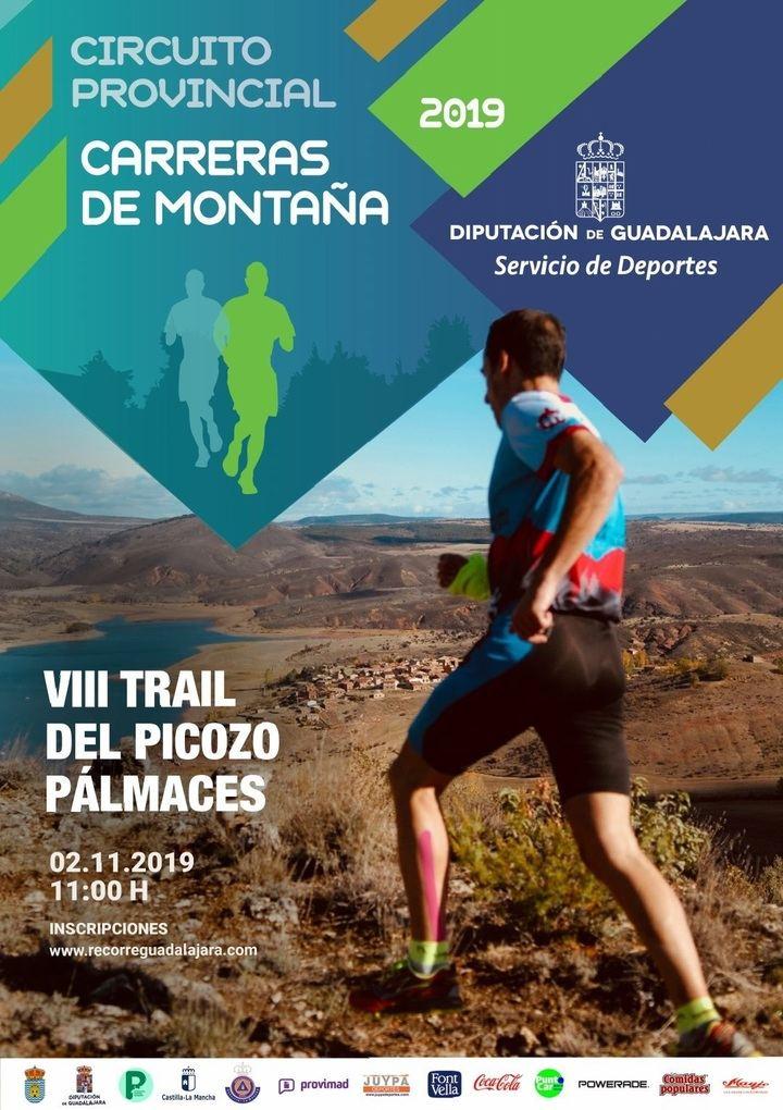 El sábado 2 en Pálmaces de Jadraque, VIII Trail del Picozo, última prueba del Circuito de Carreras de Montaña de Diputación de Guadalajara
