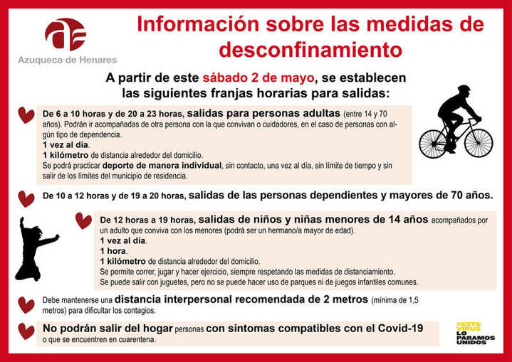 El Ayuntamiento de Azuqueca recuerda a los azudenses la necesidad de cumplir las condiciones de paseo y práctica de deporte desde este sábado
