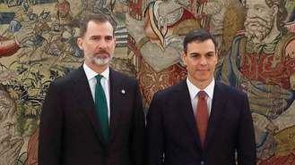 El Rey a Pedro Sánchez, tras prometer el cargo :