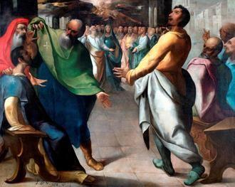 """El Museo del Greco expone la obra """"Pentecostés"""" de Herrera el Viejo y su proceso de estudio y restauración"""