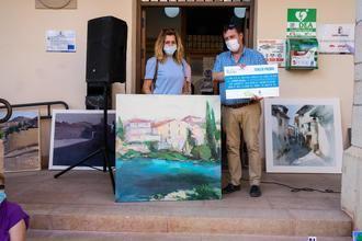 Una colorista visión del puente sobre el río Tajo, Primer Premio del XVIII Concurso de Pintura Rápida 'Villa de Trillo'