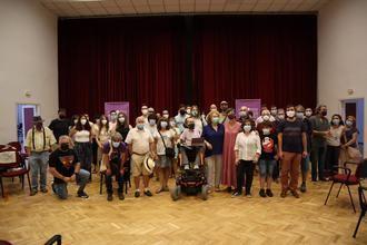 Militantes de Podemos celebran un nutrido acto de campaña en Toledo en apoyo a la candidatura de Ione Belarra