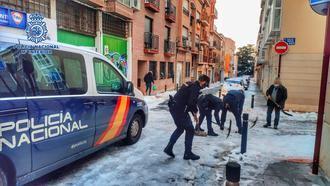 La Policía Nacional realiza en Guadalajara múltiples servicios humanitarios como consecuencia del temporal Filomena