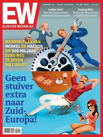 """Ni un céntimo más al sur de Europa"", la polémica portada de un semanario holandés que califica de ""vagos"" a españoles e italianos"